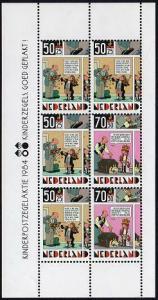 HERRICKSTAMP NETHERLANDS Sc.# B610A Cartoon S/S