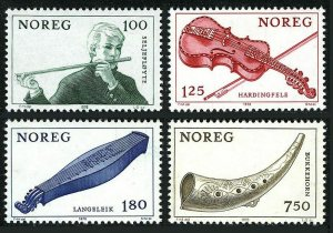 Norway 734-737,MNH.Michel 783-786. Musical instruments,1978.Willow pipe,Violin,