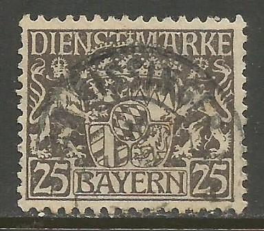 GERMANY BAVARIA O15 VFU S197-4