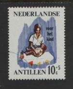 Netherlands Antilles 1966 used child welfare   10 ct   #