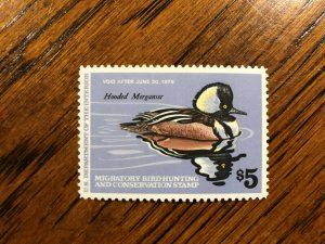 RW 45 1978 $5.00 Mergansers Duck Stamp, Mint Never Hinged