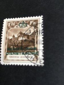 Liechtenstein 2019 Scott #O8 Used Cat. $425.00 1932 1FR20 Official Perf.10.5 VF