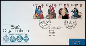 Great Britain Sc#983-986 YOUTH ORGANISATIONS SCOUTING (1982) FDC