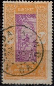 Dahomey 1925: Sc. # 58; O/Used Single Stamp