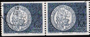 Sweden. 1971 6k(Coil Pair) S.G.639a Fine Used