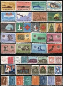 400+ INDONESIA Republic Stamps Postage Collection Commemorative 1948-91 Used MLH