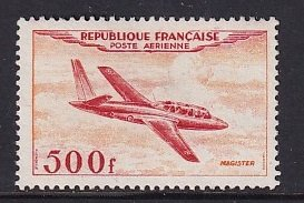 France   #C31  used  1954   Miles Magister  500fr