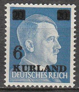 Stamp Germany Kurland Mi 03 1945 WWII Latvia War Occupation Russia Adolf MH