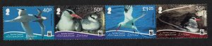 Ascension WWF White-tailed Tropicbird Strip of 4v SG#1060-1063