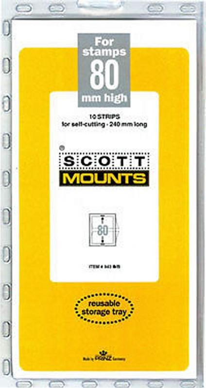 Prinz Scott Stamp Mount 80/240 BLACK Background Pack of 10