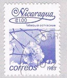 Nicaragua Flower purple 100 - pickastamp (AP109017)