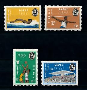 [90175] Ethiopia 1964 Olympic Games Tokyo Swimming Basketball Football  MNH