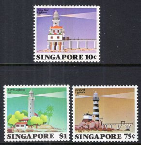 Singapore 397-399 Lighthouses MNH VF