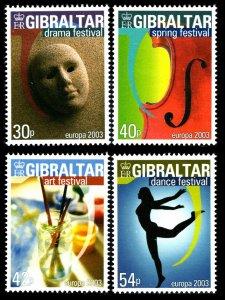 2003 Gibraltar 1032-1035 Europa Cept 7,00 €
