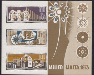 Malta # B15a, Christmas, Souvenir Sheet., Mint NH, 1/2 Cat..