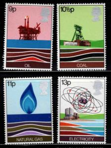 Great Britain Scott 827-830 MNH** 1977 Energy set