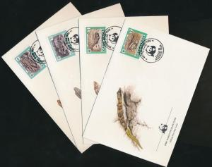 Cap Verde stamp WWF Lizard set 4 FDC 1986 Cover Mi 500-503 WS180424