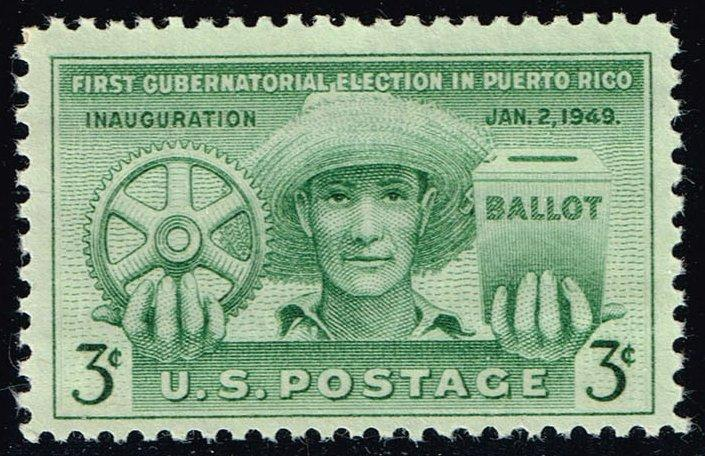 US #983 Puerto Rico Elections; MNH (0.25)