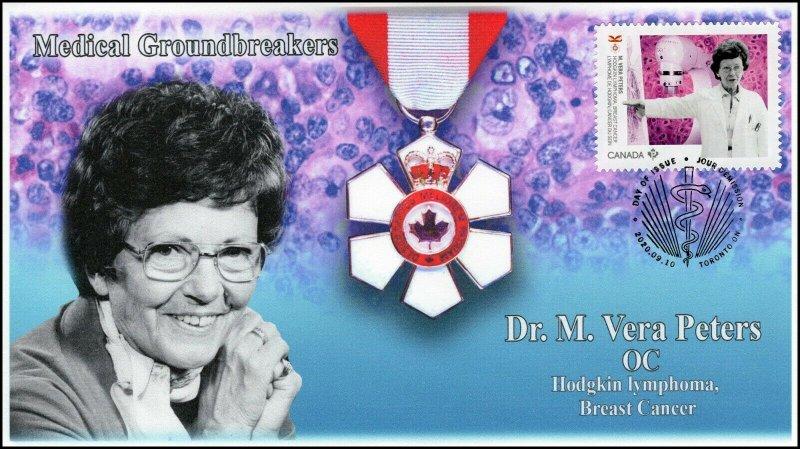 CA20-031, 2020, Medical Groundbreakers, Dr M Vera Peters, Pictorial Postmark,