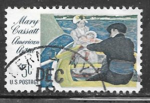 USA 1322: 5c The Boating Party, used, VF