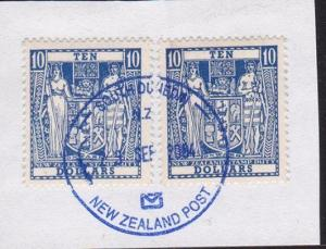 NEW ZEALAND 2004 late use $10(2) Arms on piece, South Dunedin cds.........68945