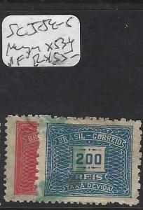 BRAZIL (P2802B)  POSTAGE DUE SC J54-5, MEYER X53 -4    VFU