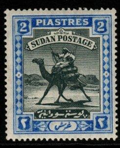 SUDAN SG25 1902 2p BLACK & BLUE MTD MINT