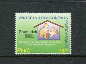 Peru 1259, MNH, Campaign against Domestic Violence 2000. x29649