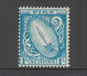 Ireland Sc 117 MLH. 1940 1sh blue Sword of Light, Top Value to Set, F-VF