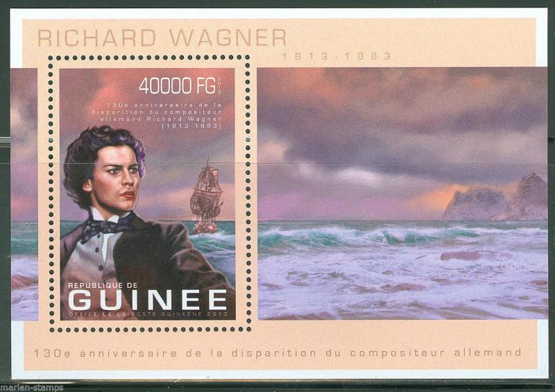 GUINEA 2013 130th MEMORIAL ANNIVERSARY OF RICHARD WAGNER SOUVENIR SHEET