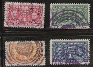 Panama  Scott RA15-18  Used 1945 Postal Tax set