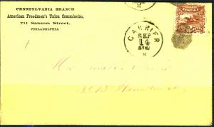 U.S. #113 Used On Cover