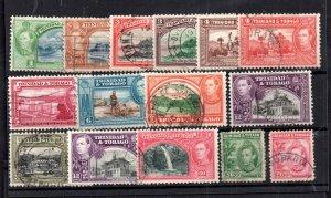 Trinidad & Tobago KGVI 1938 used set #246-256 WS15137