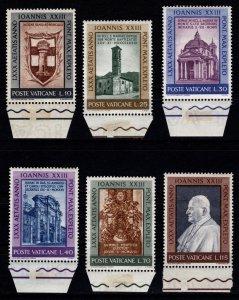 Vatican City 1961 Pope John XXIII's 80th Birthday, Marginal Set [Unused]