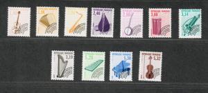 France Sc#2273-83 M/NH/VF, Complete Set/11, Musical Instsruments, Cv. $83.25