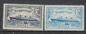 France 300 and 300a MLH 1935 issue some spots on 300a (ap7248)