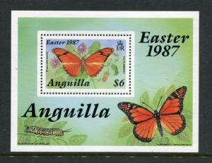 Anguilla 708-712, MNH, Insects Butterflies 1987 SCV-$44.00. x23813