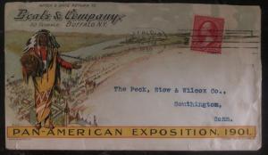 1899 Buffalo NY USA Advertising Color Cover Pan American Exposition 1901