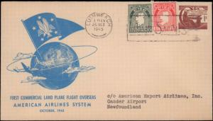 Ireland, First Flight, Canada Newfoundland