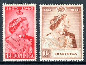 Dominica 1948 KGVI. Silver Wedding set of 2. Mint. LH. SG112/113.
