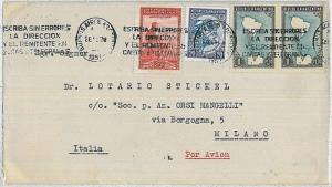 ARGENTINA - Postal History : AIRMAIL COVER to ITALY - 1951 - MAPS
