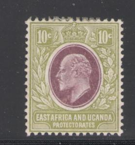 East Africa & Uganda 1907 King Edward VII 10c Scott # 34 MH