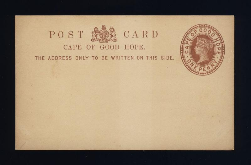 CAPE OF GOOD HOPE - 1882 - 1d POSTAL CARD FINE MINT - (c)
