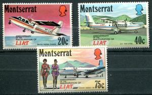 Montserrat SC# 271-3 Island Air Transport Mint hinged