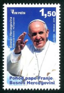 BOSNIA & HERZEGOVINA/2015, The visit of the Pope Francis, MNH