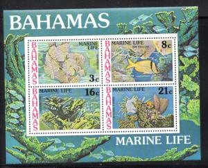 Bahamas Sc 409a 1977 Marine Life stamp sheet mint NH
