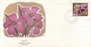 Niue FDC SC# 424 Princess Flower L250