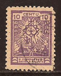 Lithuania  #  190  used