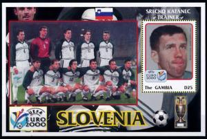 [78899] Gambia 2000 European Cup Football Soccer Team Slovenia Sheet MNH