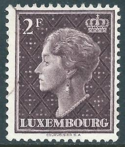 Luxembourg, Sc #257, 2fr Used